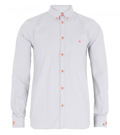 Marc by Marc Jacobs Cotton Oxford With Orange Buttons