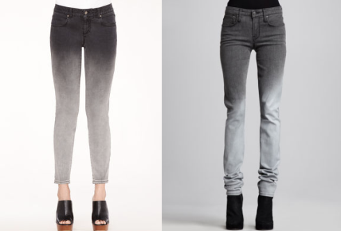 Stella McCartney and Helmut Lang ombre denim