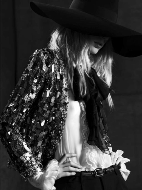 Julia Nobis for Saint Laurent Paris Spring 2013