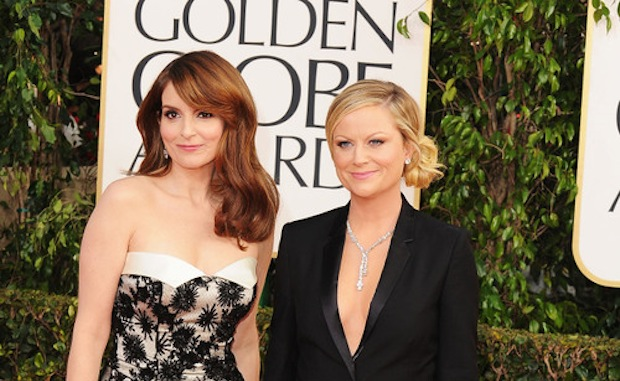 Tina Fey and Amy Poehler at the 70th Annual Golden Globe Awards