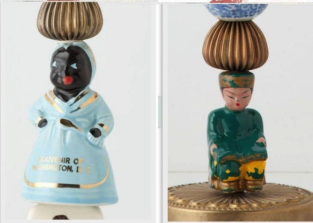 Anthropologie racist candlestick with mammie effigy