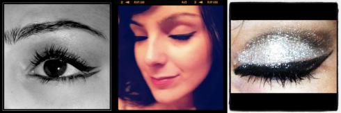 Aesthete News glitter Cat-eye eyeliner