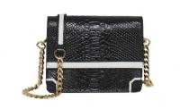 Alice + Olivia black and white clee crossbody handbag black and white