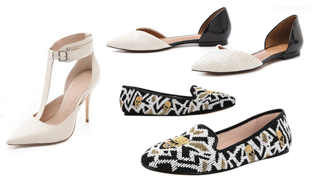 3.1 phillip lim d'orsay flats, house of harlow zenith flats, elizabeth and james heels