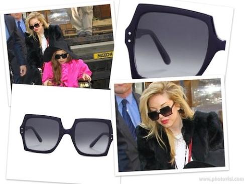 Lady Gaga makeup artist Tara Savelo wearing Oliver Goldsmith Moosh sunglasses