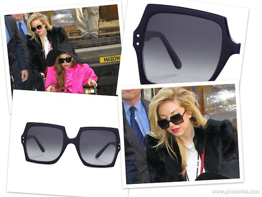 Lady Gaga makeup artist Tara Savelo wearing Oliver Goldsmith Moosh sunglasses
