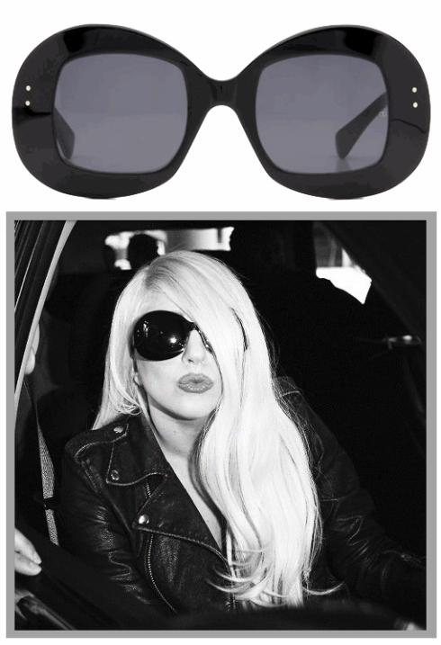 Lady Gaga wearing Oliver Goldsmith Uuksuu sunglasses
