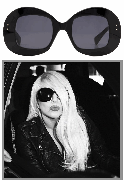 Lady Gaga wearing Oliver Goldsmith Uuksuu sunglasses