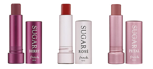 Fresh sugar lip treatment in rose, berry, and petal